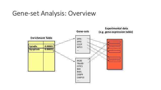 """Gene-setEnrichmentTest TheP-valueassesses theprobabilitythat, byrandomsampling the""""detectable"""" genes, theoverl..."""