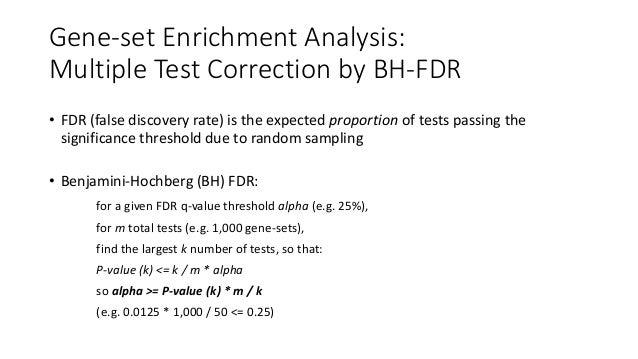 Gene-setEnrichmentAnalysis: MultipleTestCorrectionbyBH-FDR P-valueCategory P-value*m/kRank FDR q-value 1 2 3 4 ...
