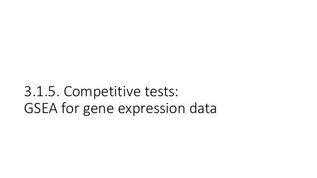 GSEA:Gene-SetEnrichmentAnalysis • Popularthreshold-freegene-settest • Identifiesgene-setsenrichedintop- orbotto...