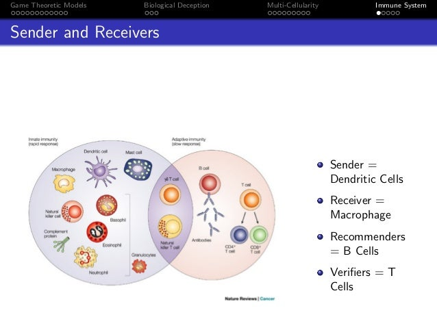 Game Theoretic Models Biological Deception Multi-Cellularity Immune System Sender and Receivers Sender = Dendritic Cells R...
