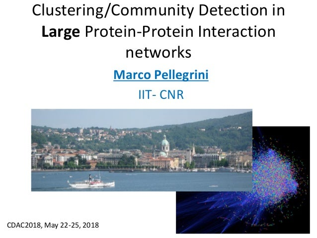 Clustering/Community Detection in Large Protein-Protein Interaction networks Marco Pellegrini IIT- CNR CDAC2018, May 22-25...
