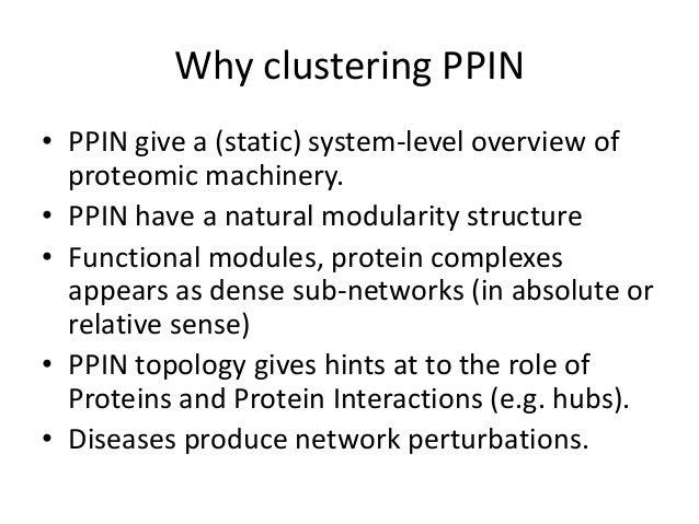 CDAC 2018 Pellegrini clustering ppi networks Slide 3