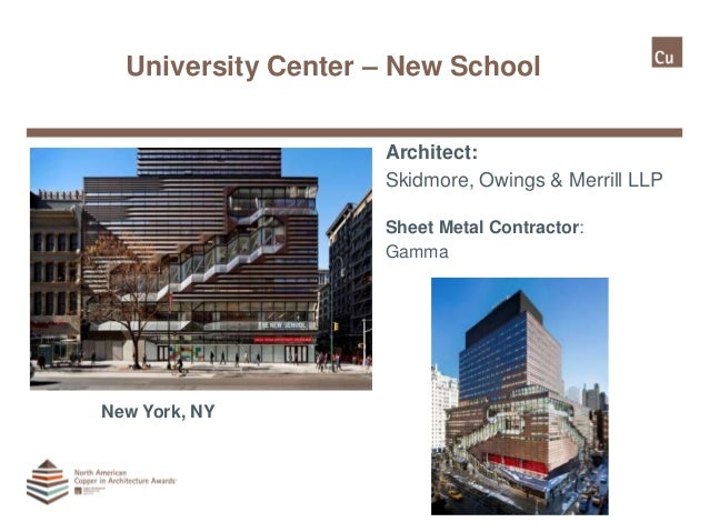 North American Copper In Architecture Awards Program 2015