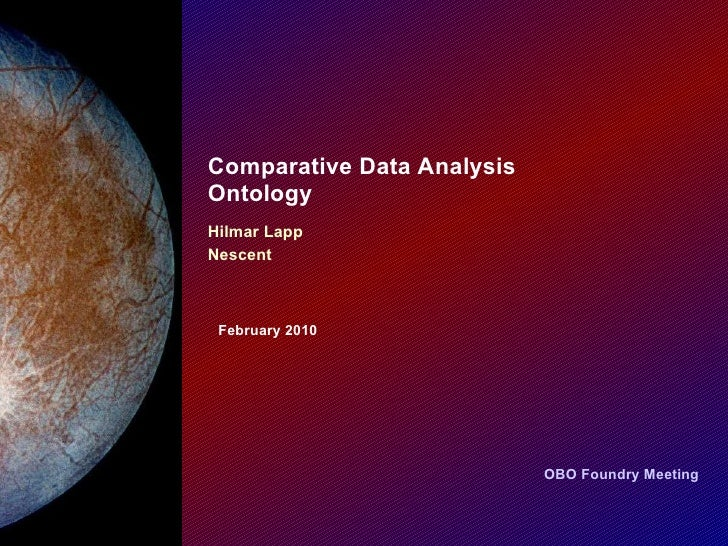 Comparative Data Analysis Ontology