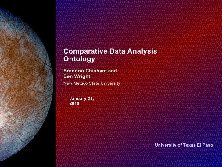 Comparative Data Analysis Ontology