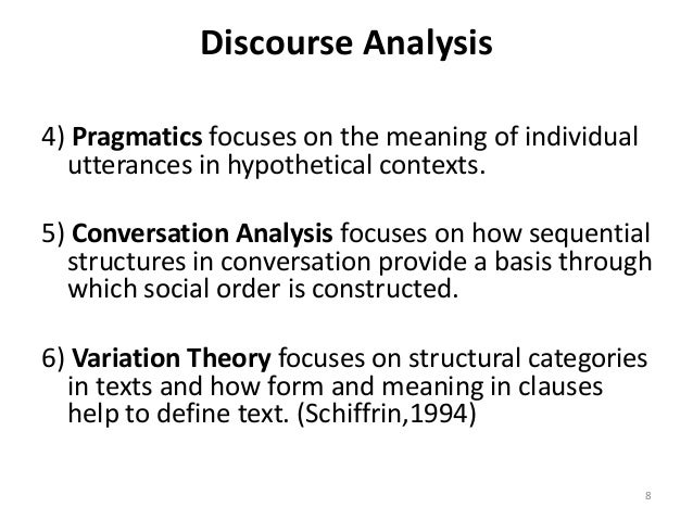 relationship between discourse and pragmatics profile