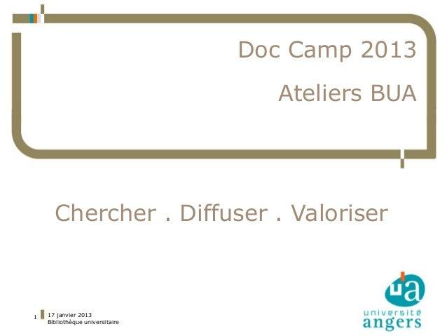 Doc Camp 2013             Thèse électronique et                            Ateliers BUA                feuille de style   ...