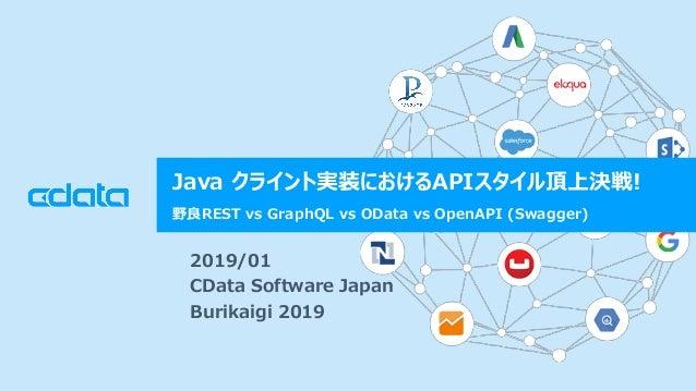 © 2018 CData Software Japan, LLC | www.cdata.com/jp Java クライント実装におけるAPIスタイル頂上決戦! 野良REST vs GraphQL vs OData vs OpenAPI (Sw...