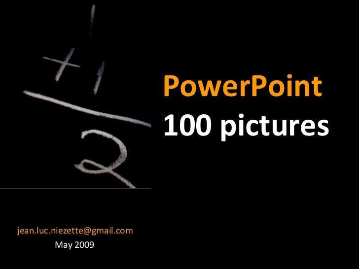 PowerPoint Tutorial Presentation - 100 Pictures Slide 1