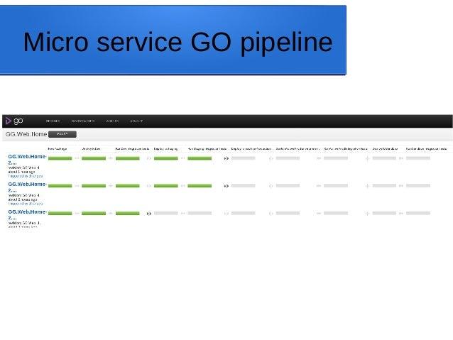 Micro service GO pipeline