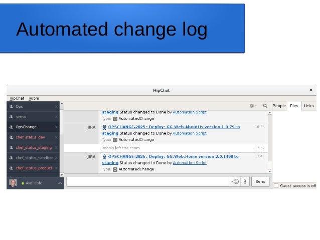 Automated change log