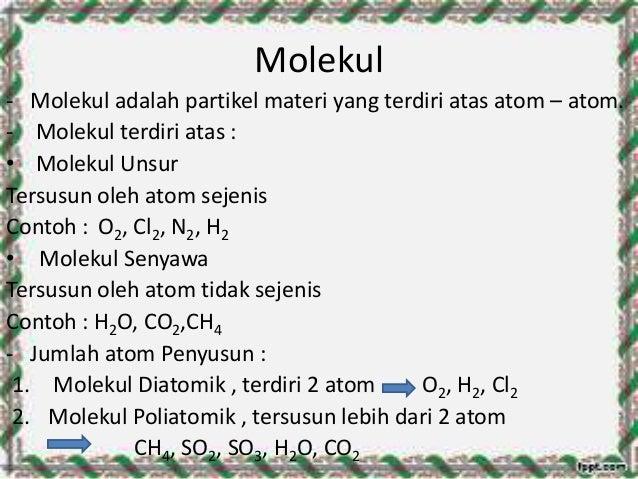 Hasil gambar untuk molekul dan unsur molekul senyawa biologi