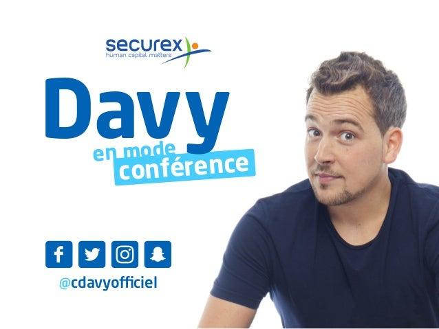 @cdavyofficiel en mode conférence Davy F L