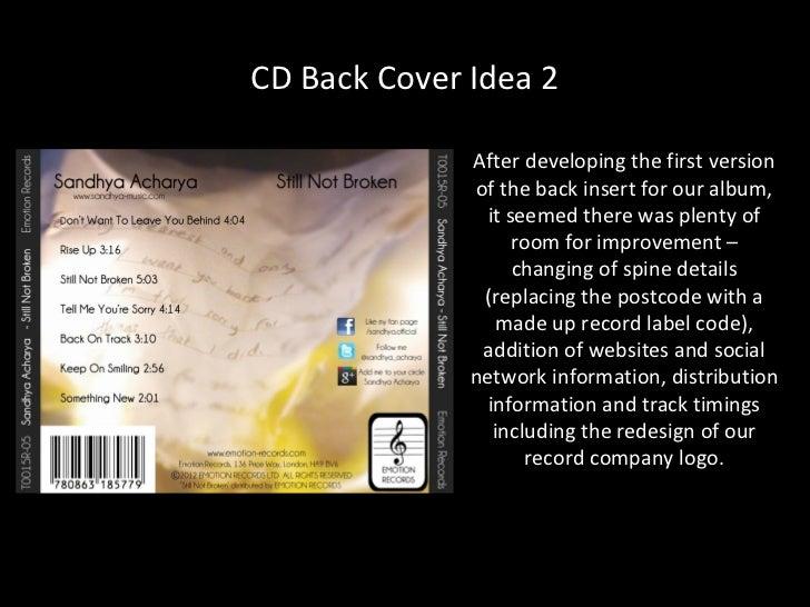 cd cover insert
