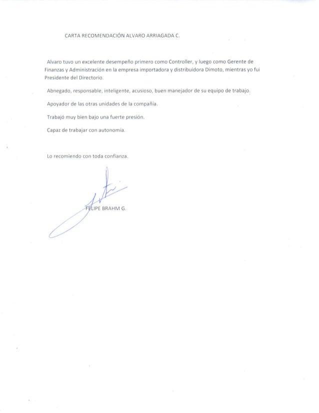 Carta de Recomendación Alvaro Arrigada