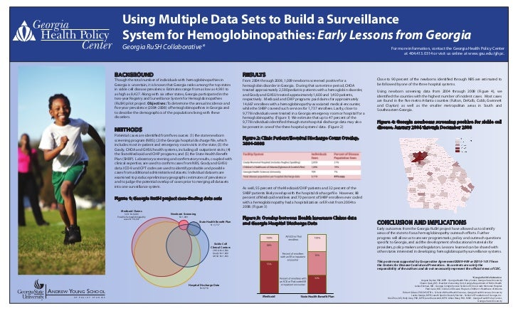 Using Multiple Data Sets to Build a Surveillance                                 System for Hemoglobinopathies: Early Less...