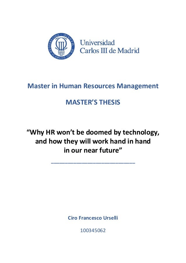 And master thesis