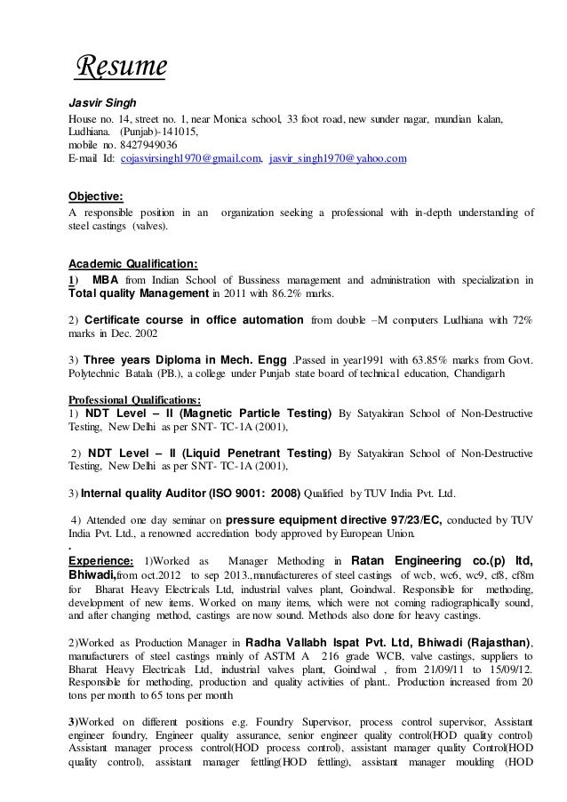 Resume.without salary