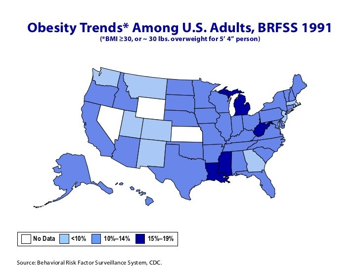 Adult Obesity Prevalence Maps Overweight Obesity CDC Obesity