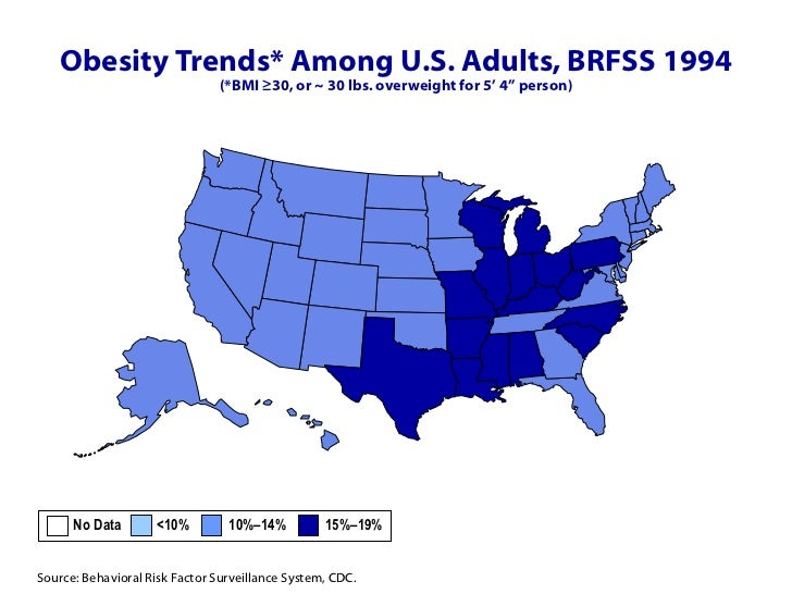 CDC Obesity Maps - Maps obesity us