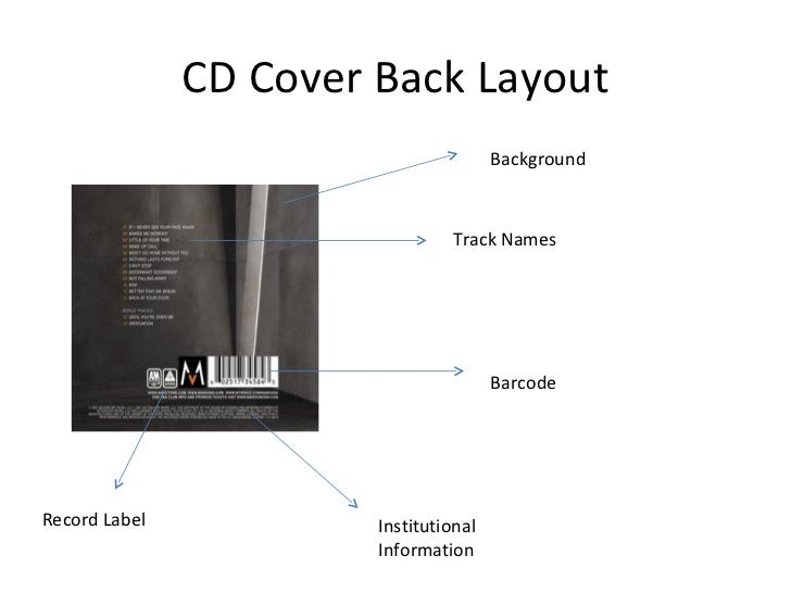 Cd cover layout