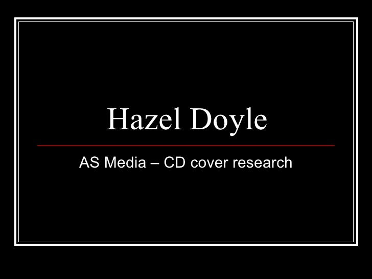Hazel Doyle AS Media – CD cover research