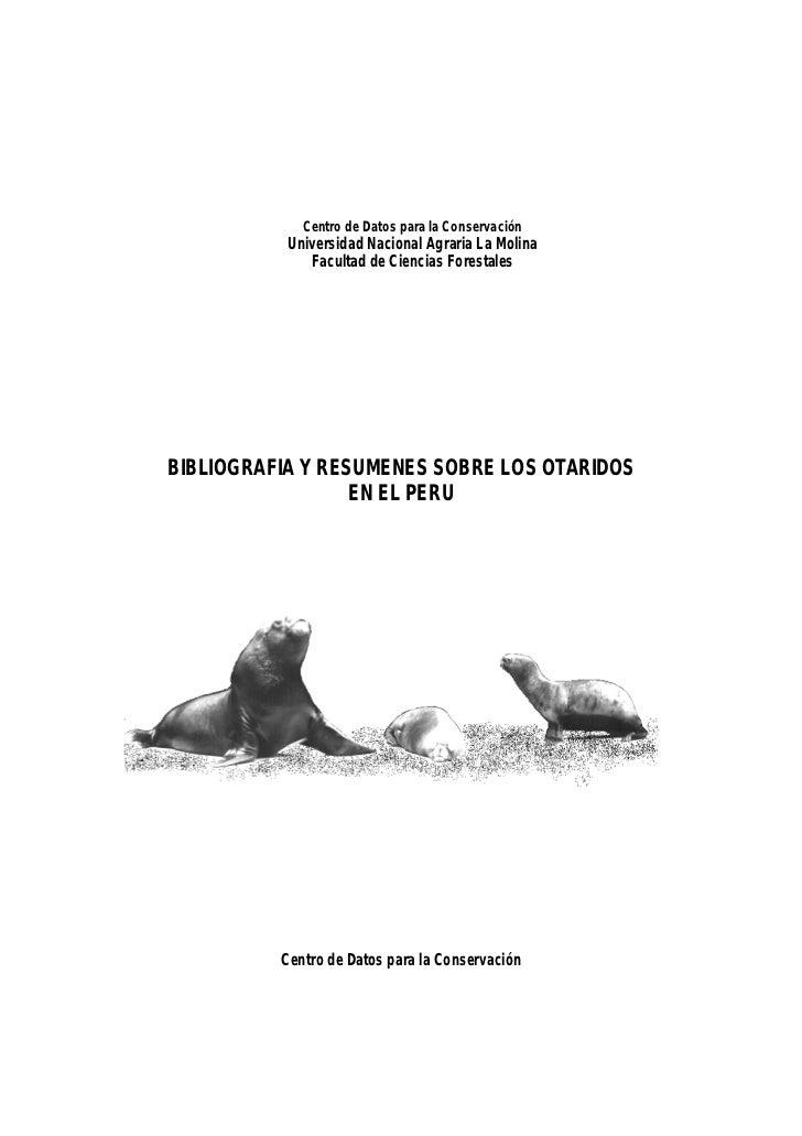 Centro de Datos para la Conservación           Universidad Nacional Agraria La Molina              Facultad de Ciencias Fo...
