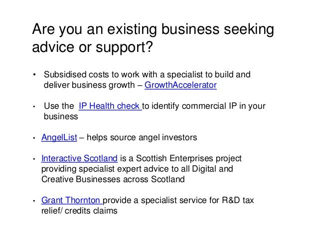 Are you an existing business seeking advice or support? • Subsidised costs to work with a specialist to build and deliver ...