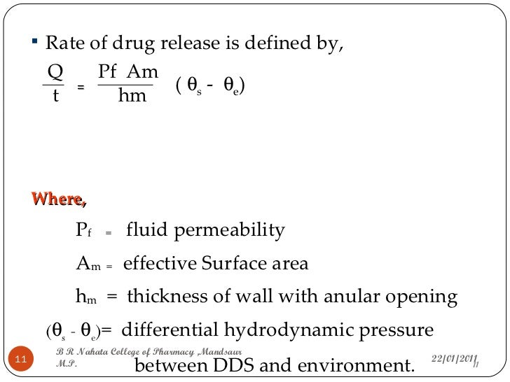 classification of rate controlled drug delivery systems pdf