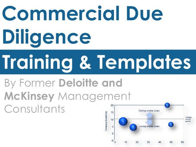 Commercial Due Diligence Training & Templates By Former Deloitte and McKinsey Management Consultants