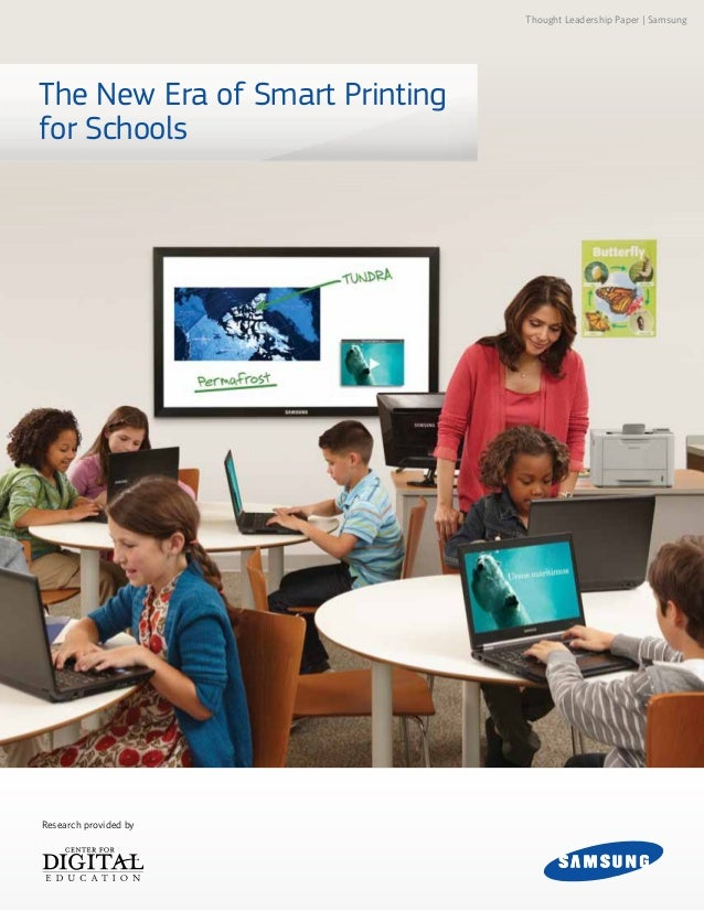 The New Era of Smart Printing for Schools Thought Leadership Paper | Samsung Research provided by