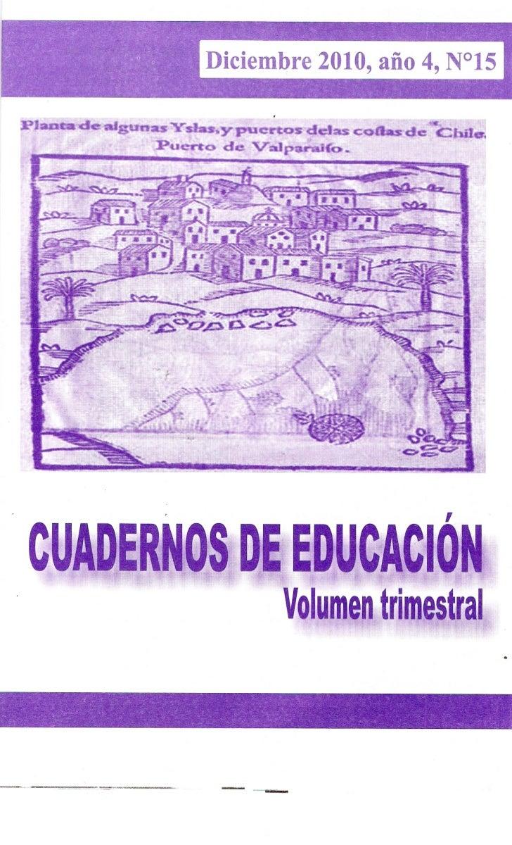 Cuadernos de Educación 2010 DIC-FEB (año4) nº15