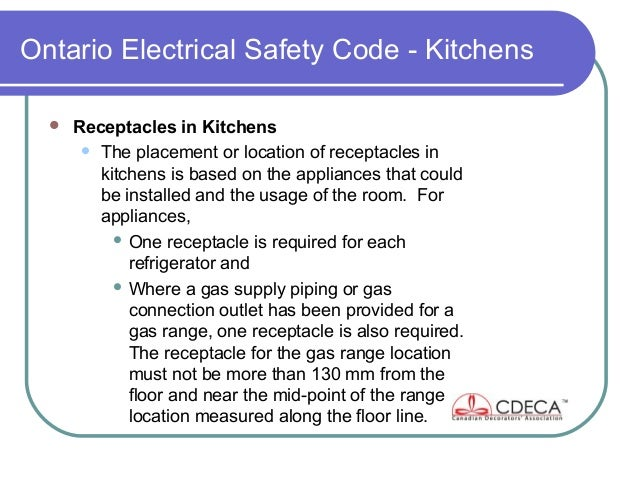 Genial 82. Ontario Electrical Safety Code   Kitchens ...