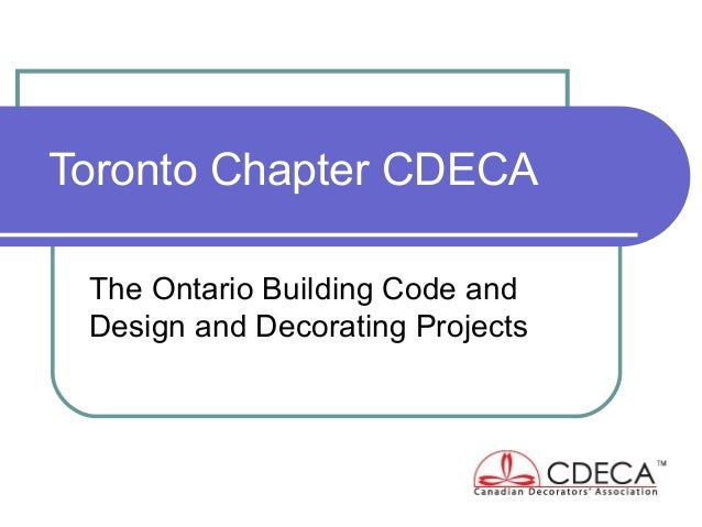 Cdeca Toronto Chapter Presentation Feb 5 2013