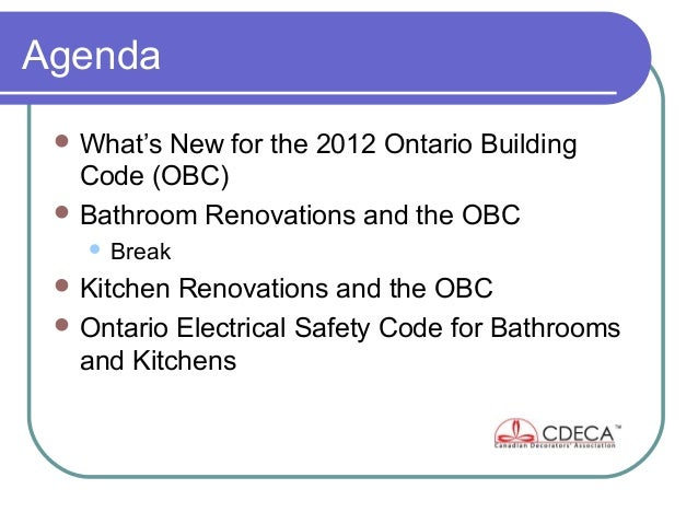 CDECA Toronto Chapter Presentation Feb 5, 2013