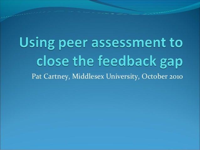 Pat Cartney, Middlesex University, October 2010