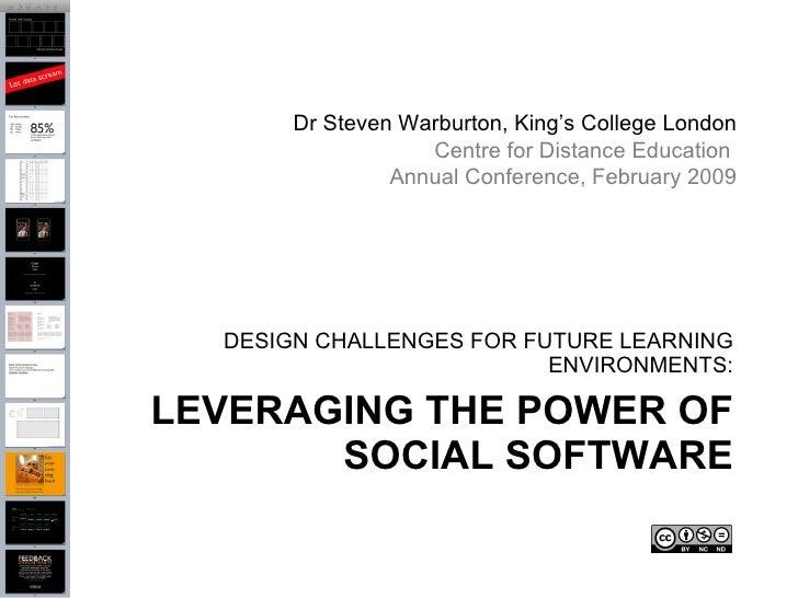 Dr Steven Warburton, King's College London                    Centre for Distance Education                 Annual Confere...