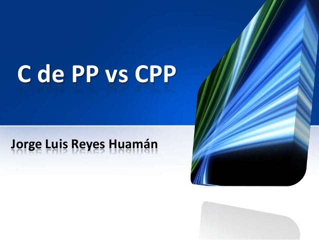 C de PP vs CPPJorge Luis Reyes Huamán