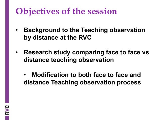 Teaching Observations at a distance: the process and the experience o…