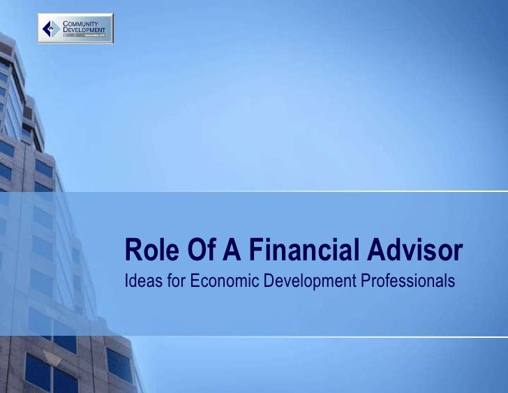 CDFA Role Of The Financial Advisor Lee Mc Cormick
