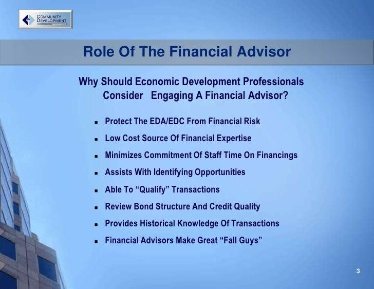 CDFA Role Of The Financial Advisor Lee Mc Cormick