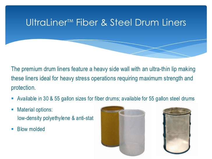 Cdf drum and pail flexible packaging