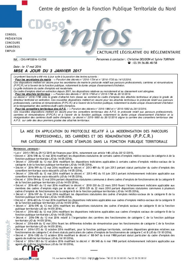 CDG-INFO2016-13/CDE 1 / 102 Réf. : CDG-INFO2016-13/CDE Personnes à contacter : Christine DEUDON et Sylvie TURPAIN  : 03.5...