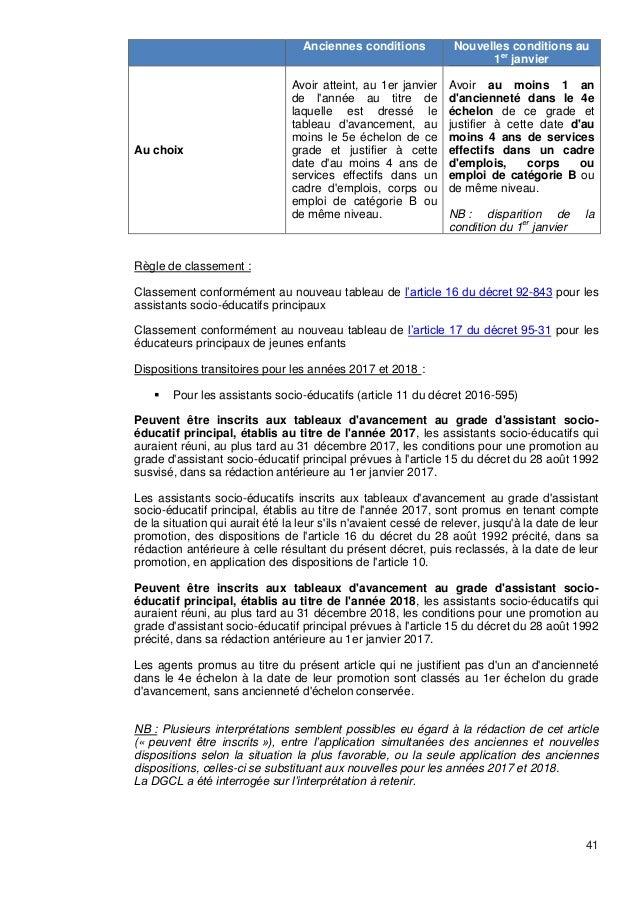 Cdg 13 circulaire ppcr janvier 2017 - Grille assistant socio educatif principal ...