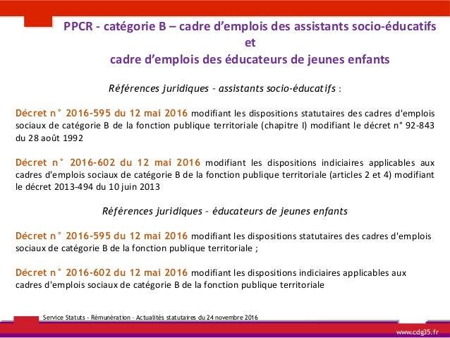 Cdg 35 actualites statutaires - Grille indiciaire assistant socio educatif fonction publique territoriale ...