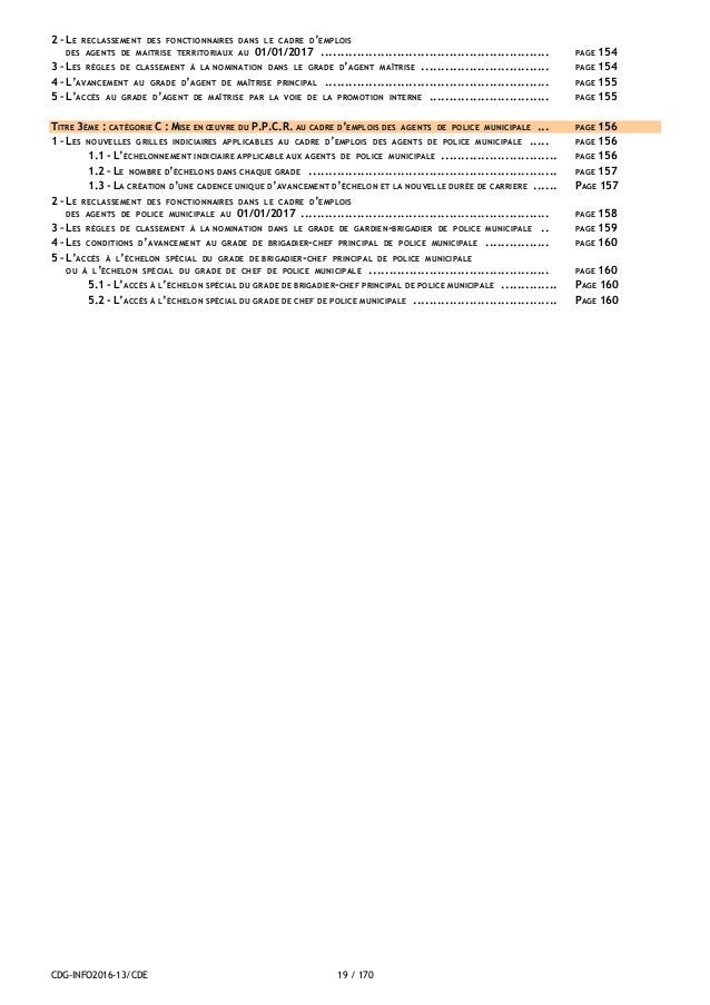 Cdg 59 ppcr - Grille indiciaire agent de maitrise principal ...