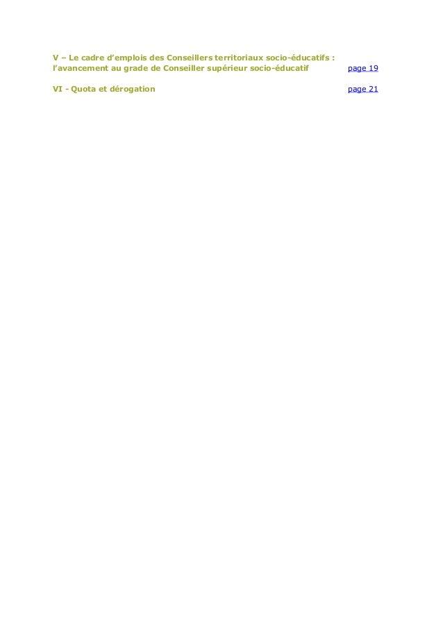 Cdg61 avancement de grade categorie a guide - Grille indiciaire cadre socio educatif ...