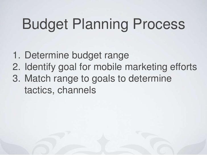 Mobile Marketing Budget Planning