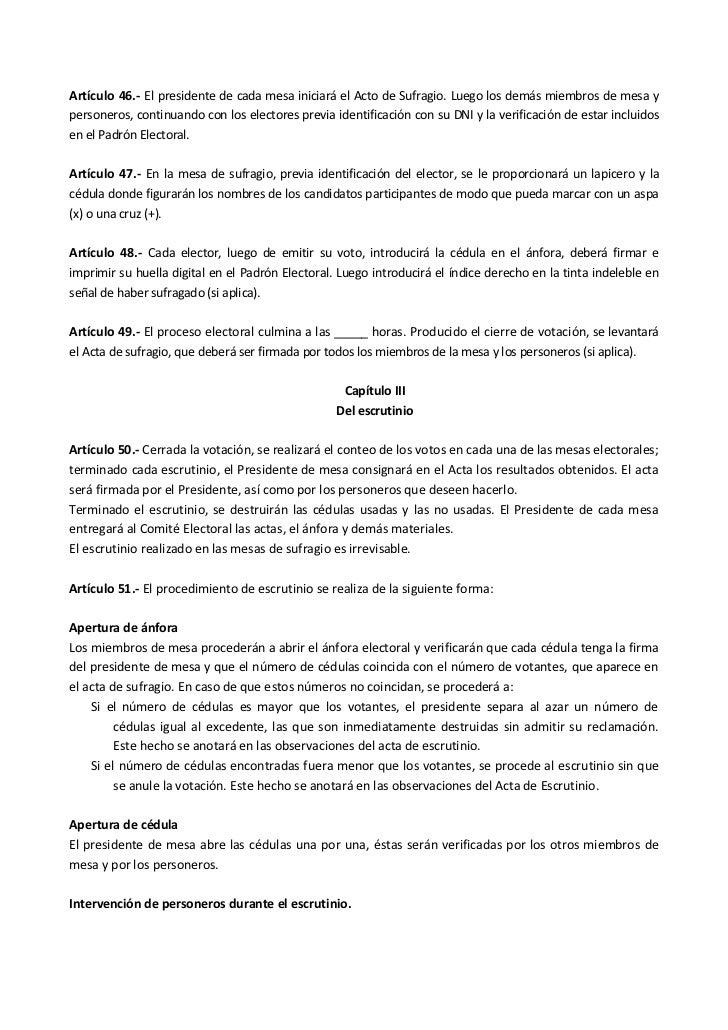 Manual para la organizaci n de elecciones for Presidente mesa electoral