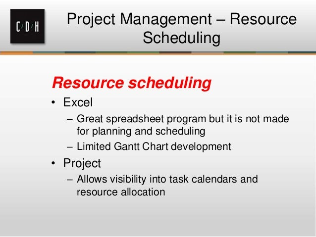Resource Allocation and Scheduling using Excel  Chandoo